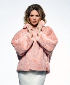 Blush Faux Fur Bridal Jacket BOL-50