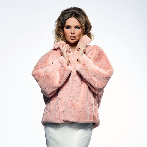 Blush Faux Fur Bridal Jacket BOL-50