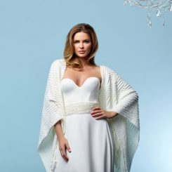 Ivory Knitted Bridal Stole Poirier S162