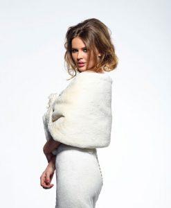 Ivory Faux Fur Bridal Stole