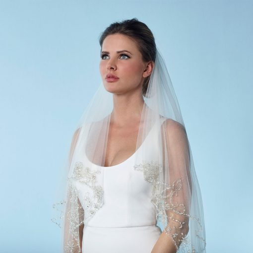Two Layer Soft Tulle Bridal Veil - S154