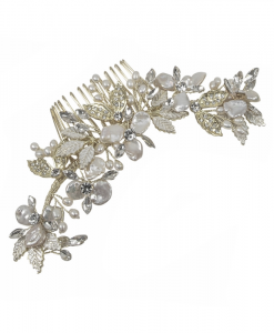 Alana Baroque Pearl & Crystal Wedding Hair Comb