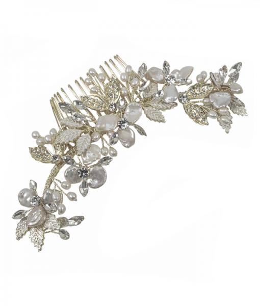 Alana Baroque Pearl & Crystal Wedding Hair Comb
