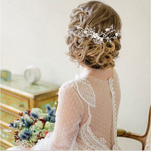 floral wedding hair comb willow
