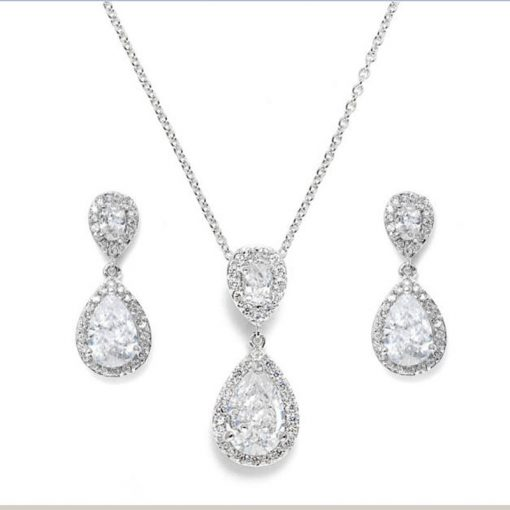 Cubic Zirconia Bridal Jewellery Set Ava