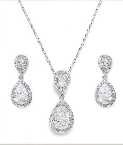 Cubic Zirconia Bridal Jewellery Set Ava
