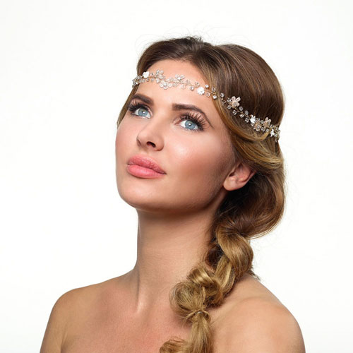 Gold Floral Wedding Hair Vine Poirier BB-215