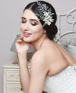 Cameron Freshwater Pearl & Crystal Wedding Hair Clip
