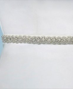 Poirier Narrow Crystal Bridal Belt C-1506