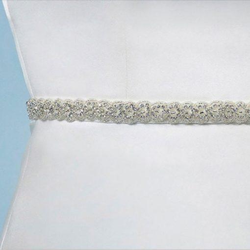 Poirier Narrow Crystal Bridal Belt C-1506